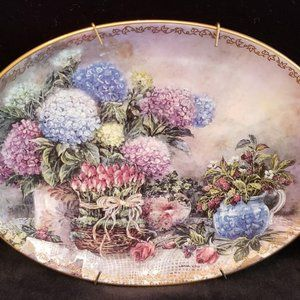 Bradford Exchange Collector Plate Garden Grace